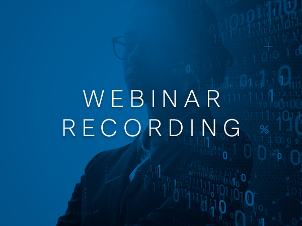 Strategic Business Transformation with Data Webinar Recording