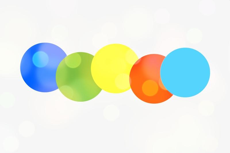 Kuvituskuva - värillisiä palloja